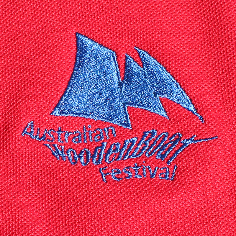 Blue on Red Logo 800
