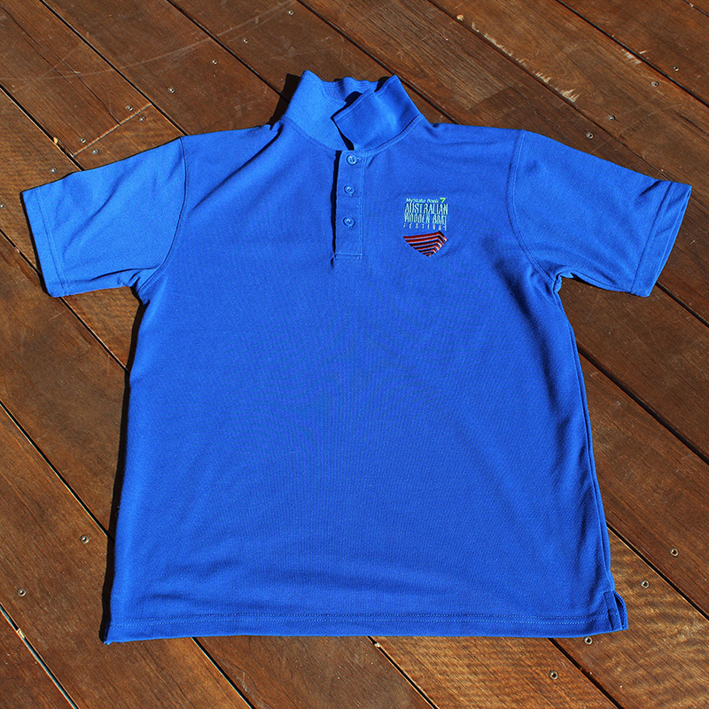 Light Blue Polo with Boat Logo 800