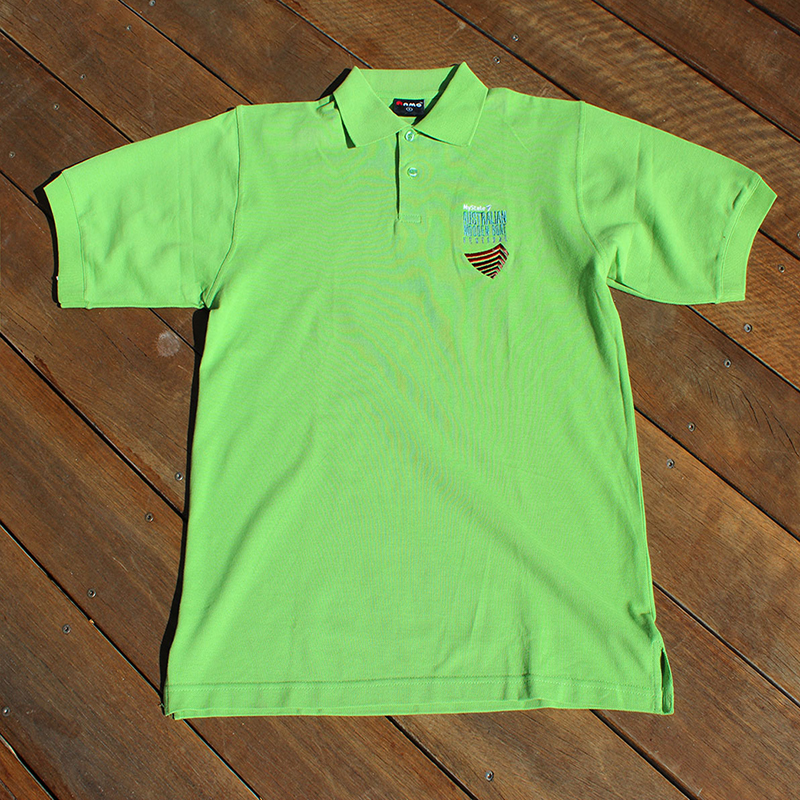 Lime Green Polo with Boat Logo 800